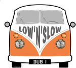LOW 'N' SLOW Slogan For Retro SPLIT SCREEN VW Camper Van Bus Design External Vinyl Car Sticker 90x80mm